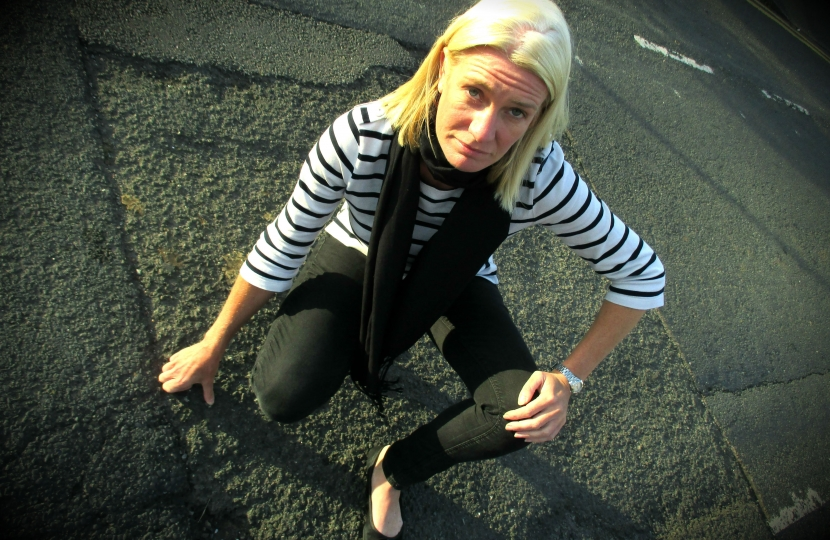 Amanda Milling has launched 'Amanda's Pothole Patrol